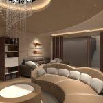 Rejtett világítás - szoba csillárral - Polyák Gipsz